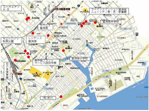 津波避難ビル位置図